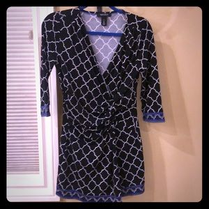 EUC White House Black Market twist front dress